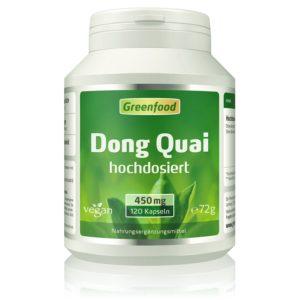 Dong Quai Kapseln Kapseln in Dose auf weissem Grund