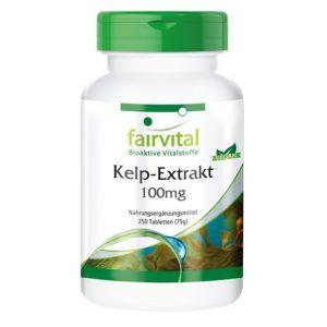 Kelp-Alge-Extrakt in Dose auf weissem Grund