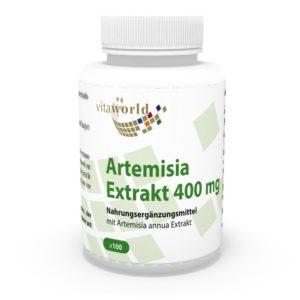 Vita World Artemisia annua Extrakt in Packung auf weissem Hintergrund