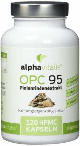 alphavitalis OPC Dose auf weissem Grund